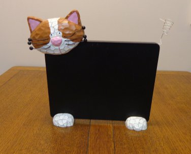 Chalkboard with cat head, tail, paws fun piece vintage cm1490
