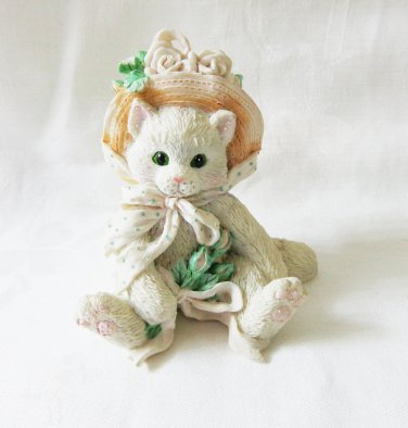 Calico Kittens Friendship from the heart figurine 1992 vintage cm1491