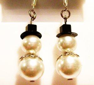Pearl Snowmen - Silver