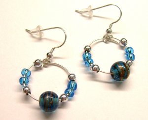 Small Galaxy Hoops - Blue
