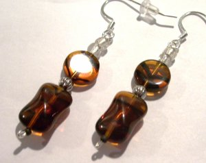 Large Tortoise Shell (Sterling Earwire)