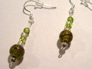 Galaxy Dangles - Green (Sterling Earwire)