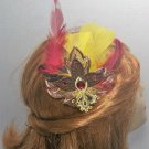Lace Hairclip with Feathers