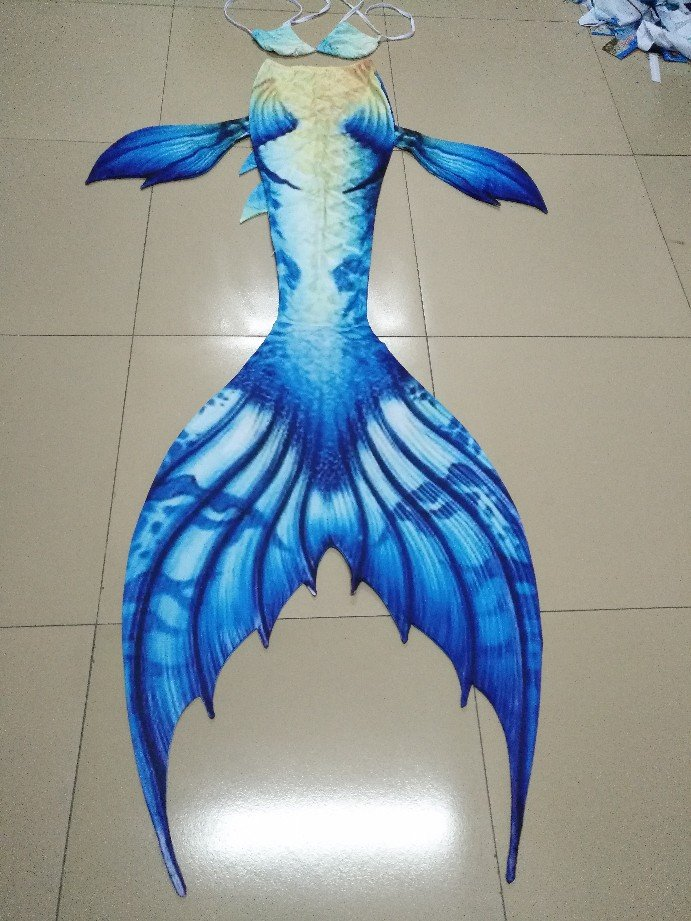 Swimmable Mermaid Tail with Monofin for Kids, Kids Mermaid