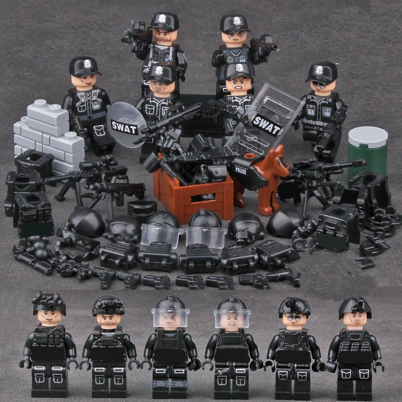 Navy Seals SWAT Police Gear Weapon Building Toys Compatible