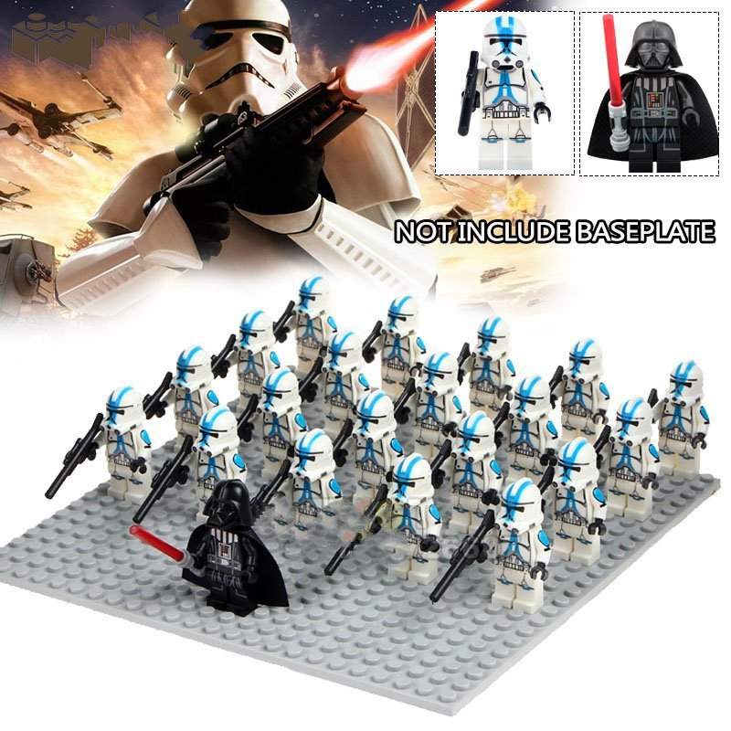 Star Wars Darth Vader Blue Stormtrooper Army Minifigures Lego Star