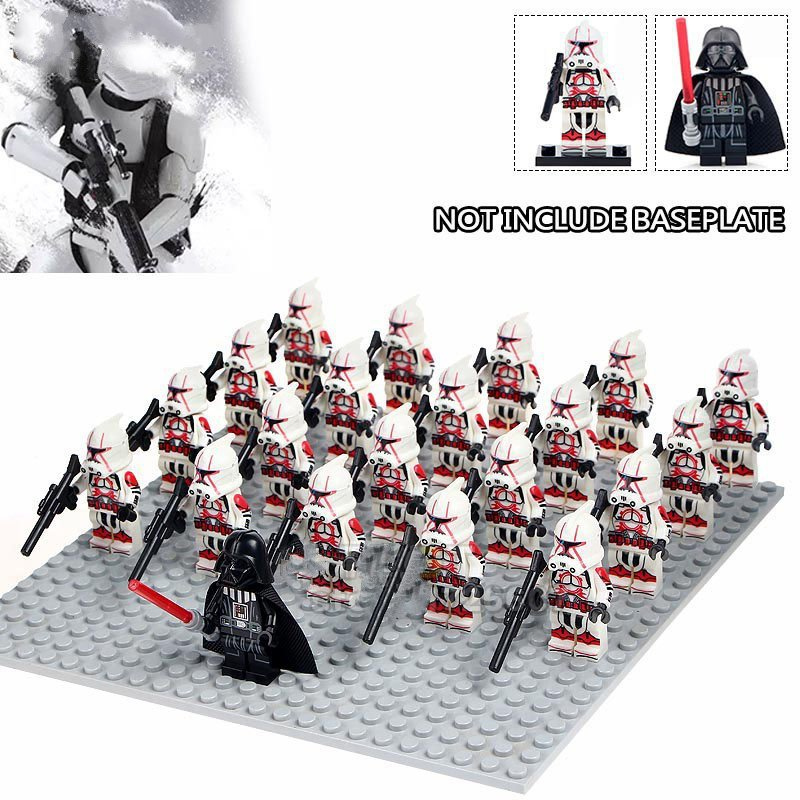 Star Wars Darth Vader White Red Stormtrooper Army Compatible Lego