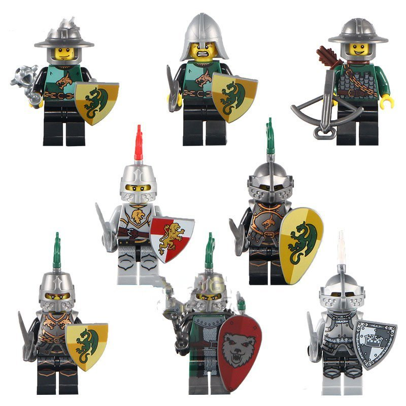 Kingdom Castle Medieval Knights Gladiatus Soldiers Minifigures Lego  Compatible Toy