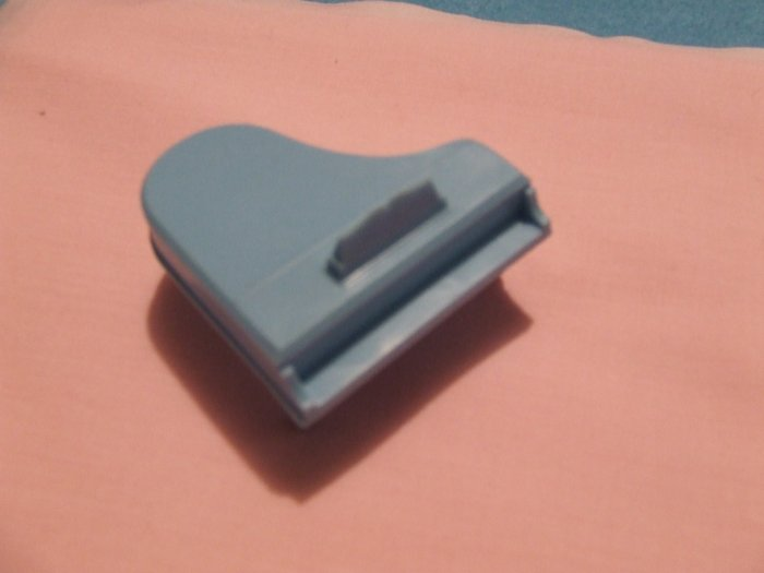 Dollhouse Furniture Molded blue plastic Piano marked Superior