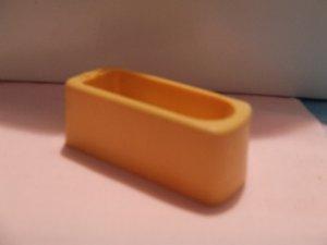 Dollhouse Furniture Molded gold plastic bathtub marked MARX
