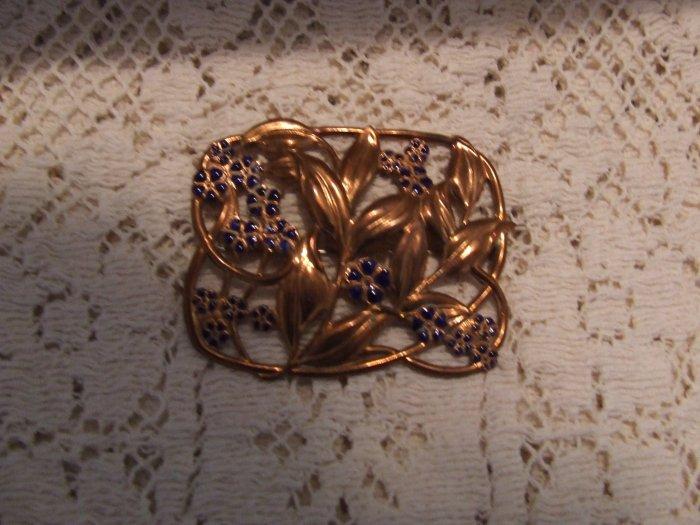 Pin Copper and cobalt enamel