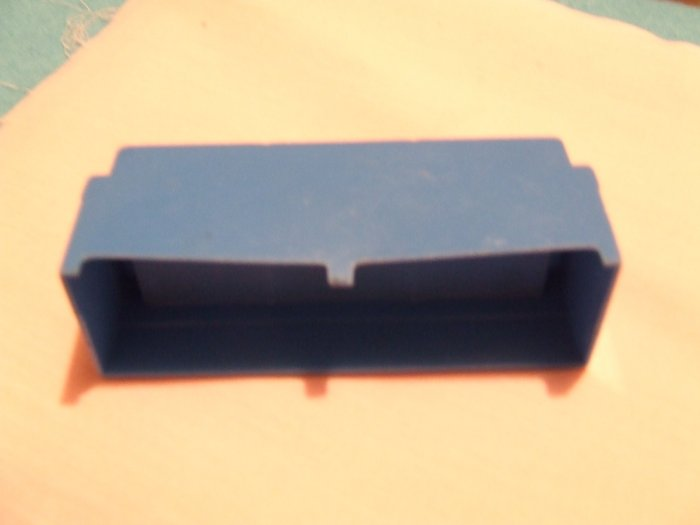 Dollhouse Furniture Molded Blue Plastic 3 Cushion Couch
