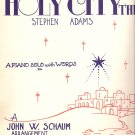 "Sheet Music ""The Holy City""  Christmas Holiday Recital"