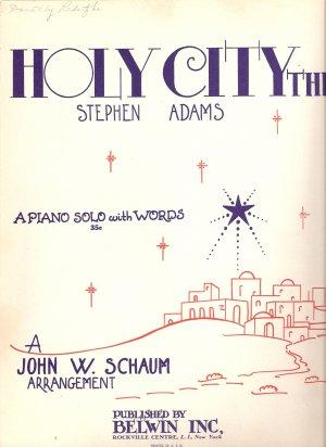 "Sheet Music ""The Holy City""  Christmas Holiday Recital"