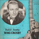 "Sheet Music ""SWEET LEILANI (LAY-LAH-NEE) Bing Crosby from the Paramount Picture WAIKIKI WEDDING"