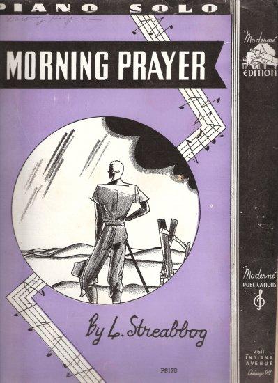 """Sheet Music """"MORNING PRAYER"""" Religious"""