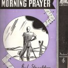 "Sheet Music ""MORNING PRAYER"" Religious"