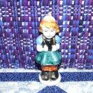China Figurine, Stamped Japan, Swiss Hiking Girl, good condition