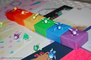 Miniature Origami Frogs