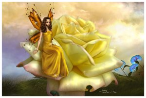 Yellow Rose Faery