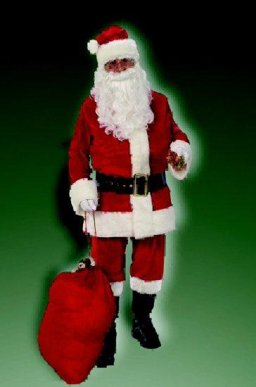 2374 Deluxe Velvet Santa Suit (Size 50-56)