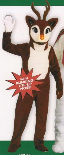909712 Reindeer Adult Mascot Style Costume