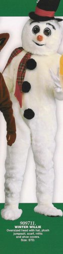 909711 Winter Willie Adult Mascot Snowman Costume
