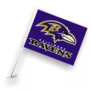 Baltimore Ravens Car Flag