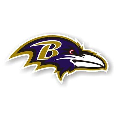 """Baltimore Ravens 12"""" Car Magnet"""