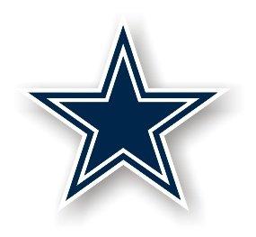 "Dallas Cowboys 12"" Car Magnet"