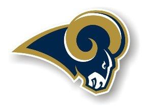 "Saint Louis Rams 12"" Car Magnet"