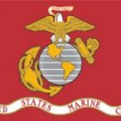 U.S. Marines Flag (3' x 5') Made of Nylon