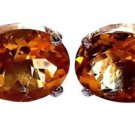 925 Solid sterling Silver Faceted Citrine Gemstone Men's Cufflinks