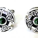 925 sterling Silver Natural Malachite Gemstone Men's Cufflinks
