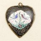 Mina Kari Black Persian Enamel Heart Pendant