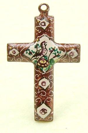 Brown Mina Kari Cross with Bird