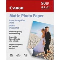 """Canon 8 1/2"""""""" x 11"""""""" Matte Photo Paper"""