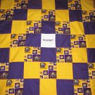 Brand New Handmade LSU Baby Quilt  (Embroidered Name Added Free)