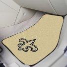 NFL  New Orleans Saints 2 Piece Carpeted Car Mats