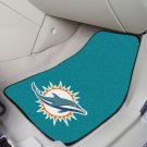 NFL  Miami Dolphins 2 Piece Carpeted Car Mats