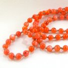 Orange Glass Bead Necklace