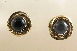 14kt Gold & Onyx Earrings