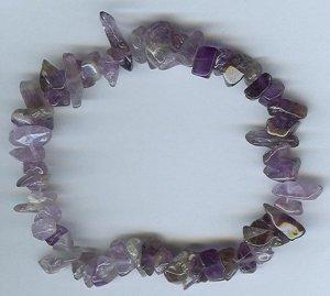 Genuine Amethyst Freeform Bracelet