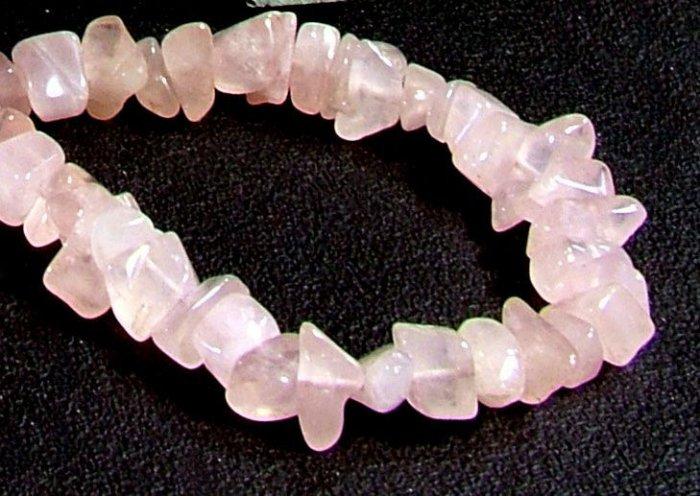 Genuine Rose Quartz Freeform bracelet