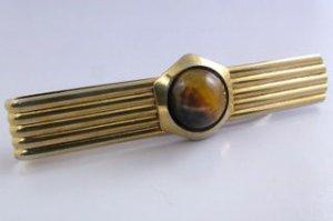 Vintage Genuine 12mm Tiger Eye Tie Clip