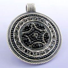 """BEST""  Black/Silver Pendant"