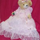 Plush Bear - Pink Satin & Lace