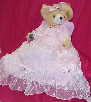Plush Bear - Pink Satin & Lace