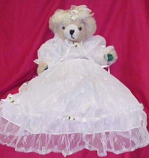 Plush Bear - Biege Satin & Lace