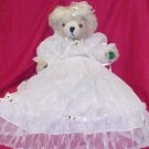 Plush Bear - White Satin & Lace